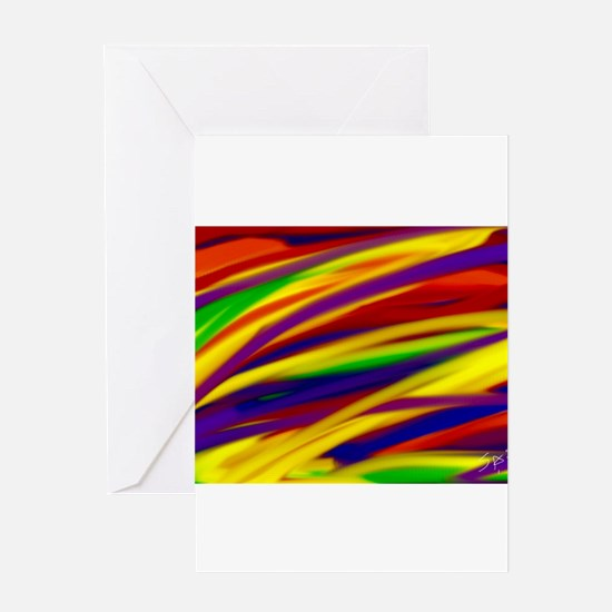 Gay rainbow art Greeting Cards