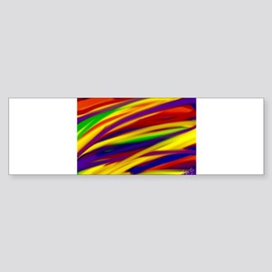 Gay rainbow art Bumper Sticker