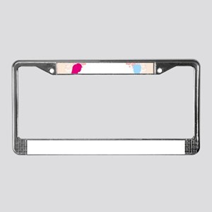 expecting dad mom License Plate Frame