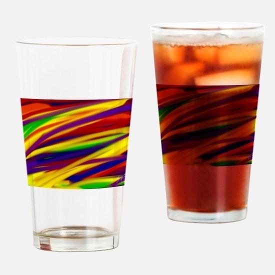 Gay rainbow art Drinking Glass