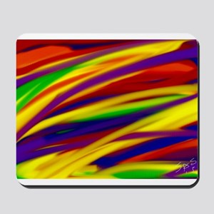 Gay rainbow art Mousepad