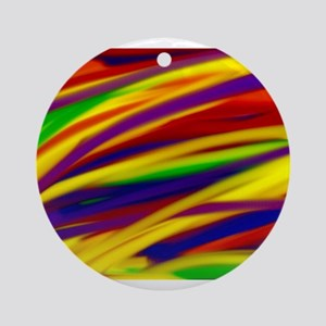Gay rainbow art Round Ornament