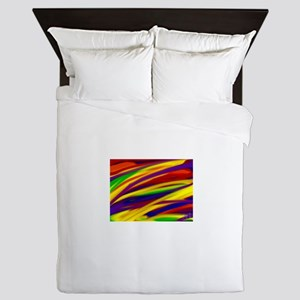 Gay rainbow art Queen Duvet