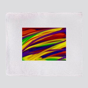 Gay rainbow art Throw Blanket