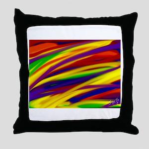 Gay rainbow art Throw Pillow