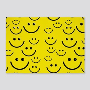 happy face 5'x7'Area Rug