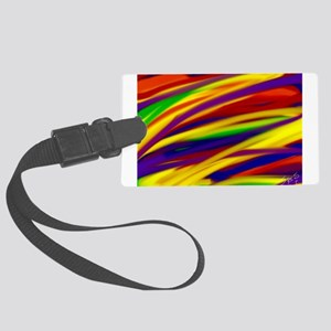 Gay rainbow art Large Luggage Tag