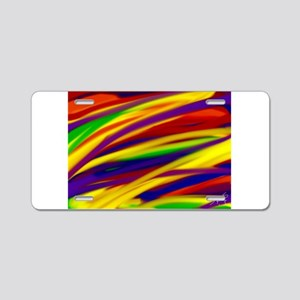 Gay rainbow art Aluminum License Plate