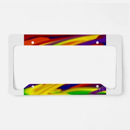 Gay rainbow art License Plate Holder
