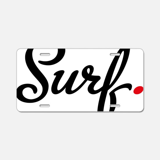 Cute Surfer Aluminum License Plate
