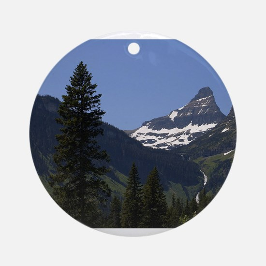 glacier national park Round Ornament