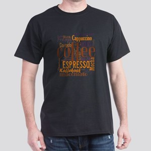Coffee word cloud collage Dark T-Shirt