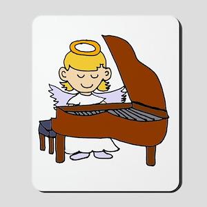 Girl Angel Playing Piano Mousepad