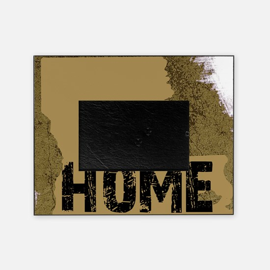 LOUISIANA black and gold rustic HOME Picture Frame