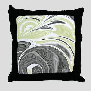 Dark Gray and Yellow Throw Pillow