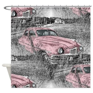 Old Fashion Cars Shower Curtains