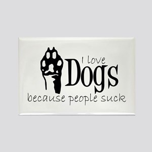 I love dogs Magnets