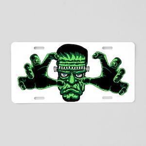 Frankenstien Monster Reachi Aluminum License Plate