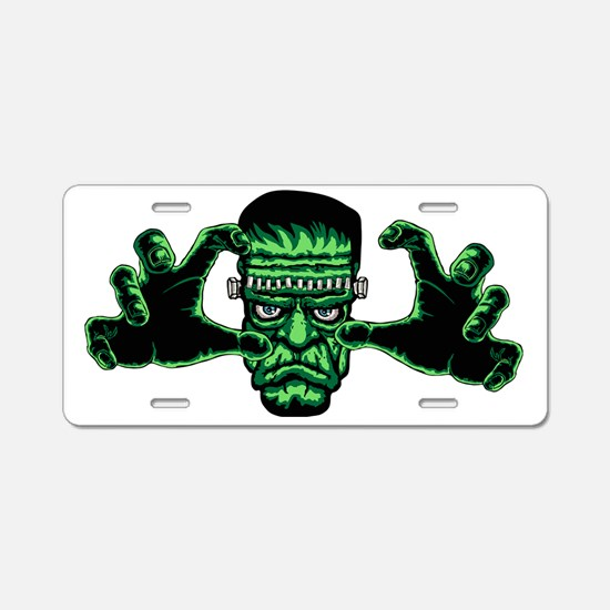Frankenstien Monster Reachi Aluminum License Plate