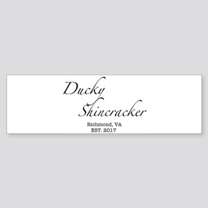 Ducky Shincracker Basic White Bumper Sticker