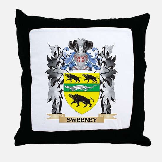 Sweeney Coat of Arms - Family Crest Throw Pillow