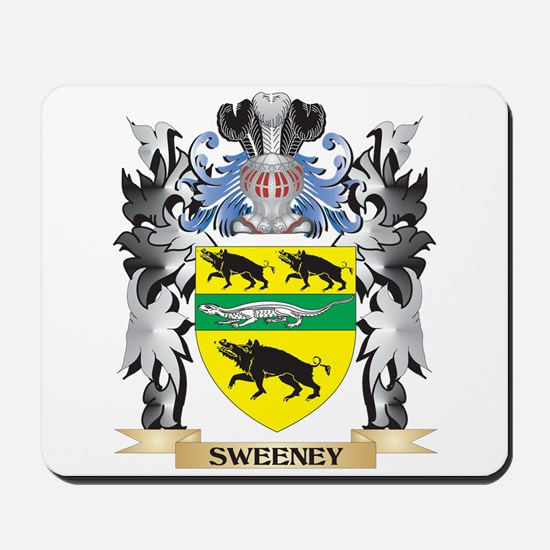 Sweeney Coat of Arms - Family Crest Mousepad