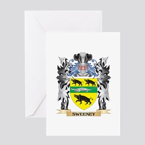 Family crest greeting cards cafepress sweeney coat of arms family crest greeting cards thecheapjerseys Gallery