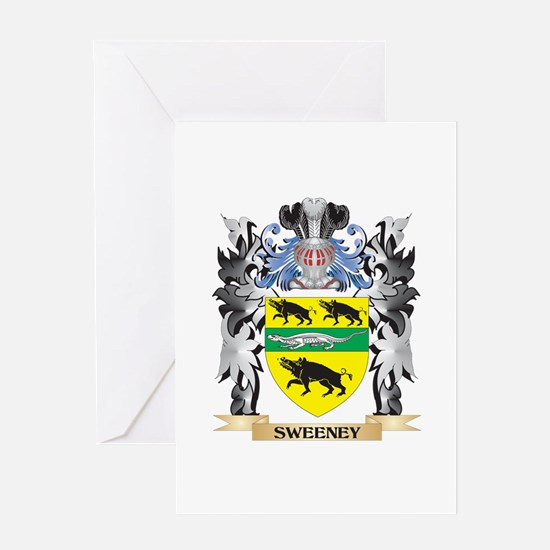 Sweeney Coat of Arms - Family Crest Greeting Cards