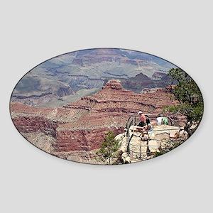 Grand Canyon South Rim, Arizona 4 Sticker (Oval)