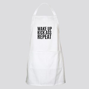 Wake Up Kick Ass Repeat Apron