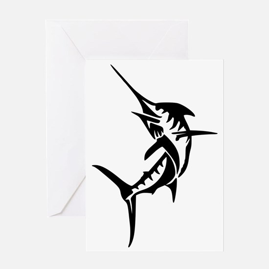 Cute Swordfish Greeting Card
