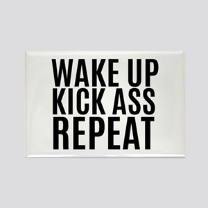 Wake Up Kick Ass Repeat Magnets