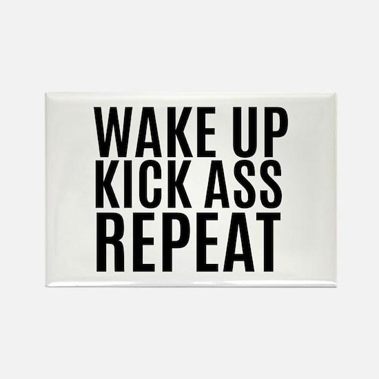 Wake Up Kick Ass Repeat Magnets