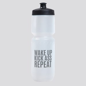 Wake Up Kick Ass Repeat Sports Bottle