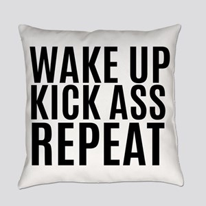 Wake Up Kick Ass Repeat Everyday Pillow