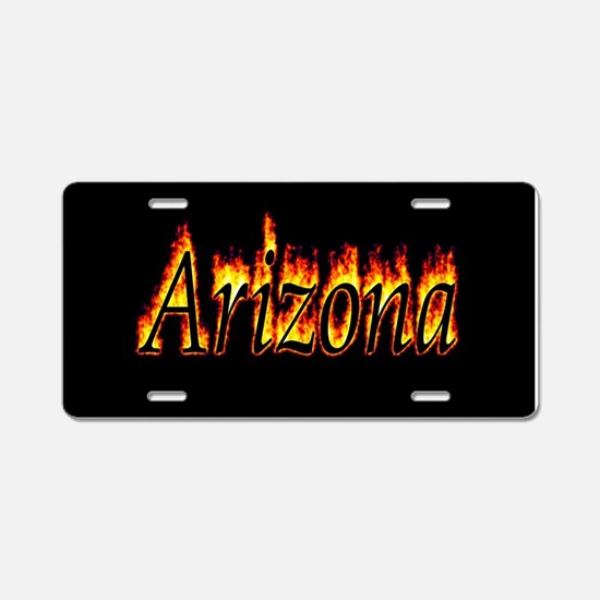 Arizona Flame Aluminum License Plate