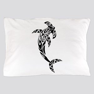 Tribal Hammerhead Shark Illustration Pillow Case