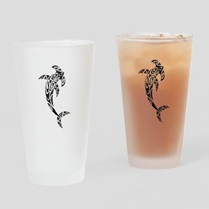 Tribal Hammerhead Shark Illustratio Drinking Glass