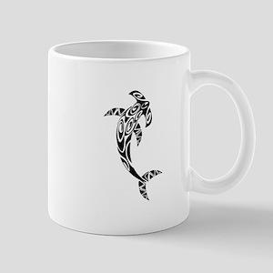 Tribal Hammerhead Shark Illustration Mugs