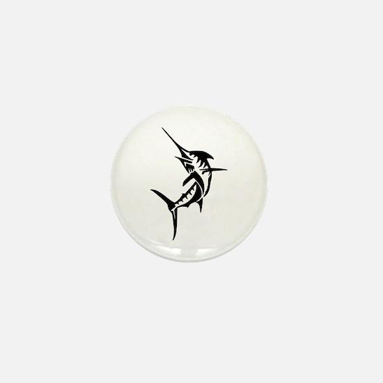 Sports Fishing Swordfish Jumping Mini Button