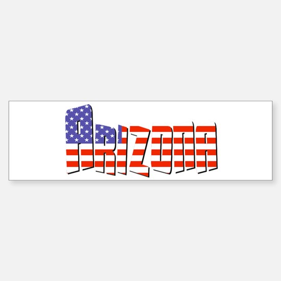 Patriotic Arizona Bumper Bumper Bumper Sticker