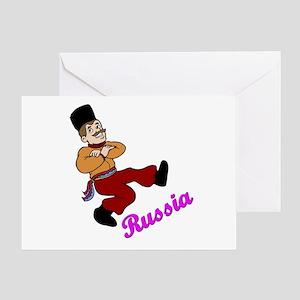 Russian Dancer Greeting Card