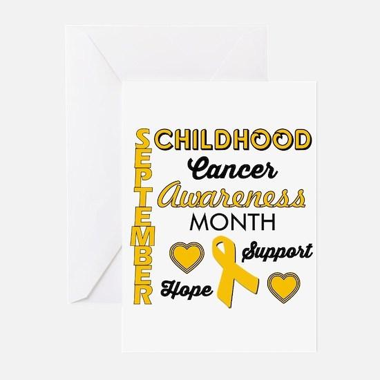 Childhood Cancer Awareness Greeting Cards