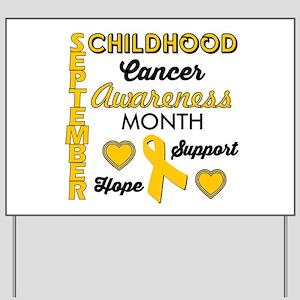 Childhood Cancer Awareness Yard Sign
