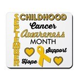 Childhood cancer awareness Mouse Pads