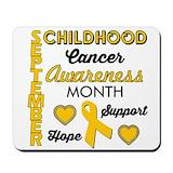 Childhood cancer awareness Classic Mousepad