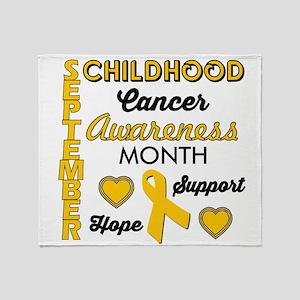 Childhood Cancer Awareness Throw Blanket