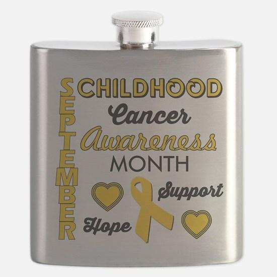 Childhood Cancer Awareness Flask