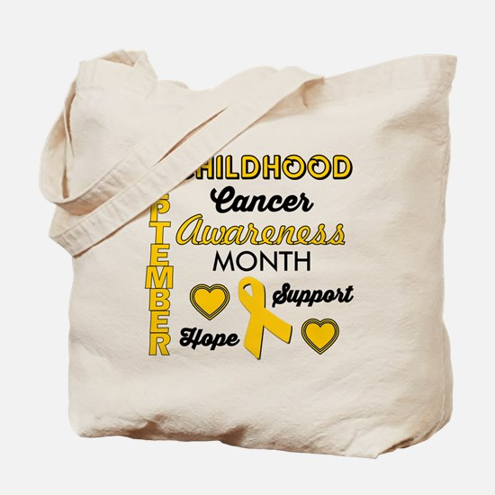 Childhood Cancer Awareness Tote Bag