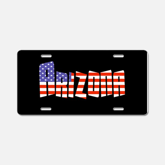 Patriotic Arizona Aluminum License Plate